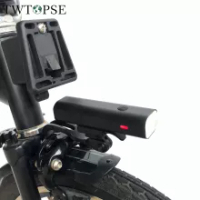TWTOPSE 400 Lumen Bike Light With Rack For Brompton 3SIXTY PIKES Dahon Tern Crius Folding Bicycle Rainproof USB Headlight Lamp