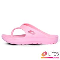 【LOTTO】女 厚底美型人字拖鞋(粉紅-LT0AWS2293)