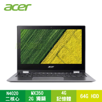 acer SP111-33-C8CB 個性黑 宏碁翻轉筆電/N4020/4G/64G/11.6吋翻轉觸碰/W10/含acer原廠包包及滑鼠