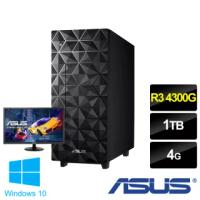 【主機+22型螢幕超值組】ASUS 華碩 H-U500MA AMD 四核心桌上型電腦(R3 4300G/4G/1TB/W10)