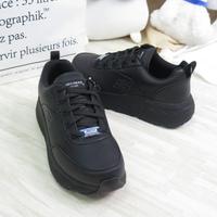 Skechers MAX CUSHIONING 女款 運動 工作鞋 防滑 寬楦 108015WBLK 黑【iSport】