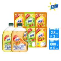 【白蘭】動力配方洗碗精2瓶+6補(2.8kgx2+800gx6)