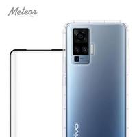 【Meteor】vivo X50 Pro 手機保護超值2件組-活動品(透明空壓殼+3D鋼化膜)