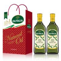 【Olitalia 奧利塔】純橄欖油禮盒組(1000ml x 2瓶)
