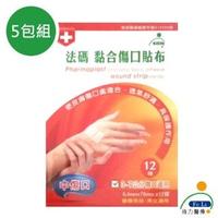 【Fe Li 飛力醫療】砝碼 黏合傷口貼布/美容膠帶(中傷口-五包組)