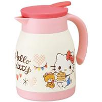 Hello Kitty凱蒂貓單耳不鏽鋼保溫茶壺/熱水壺- 600ml (粉白 鬆餅)
