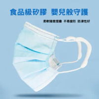 【PEKO】防疫小物 口罩伴侶專利設計防勒耳口罩掛繩減壓護耳套(白色4對入)