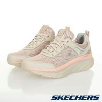 SKECHERS D'LUX WALKER 女鞋 慢跑 健走 緩衝 支撐 米粉 【運動世界】149023NTPK