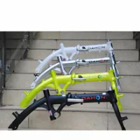 Folding Bicycle Dahon Bike Frame GLO BYA412 DOVE UNO Aluminum Alloy Frame 14 Inch Single Speed DIY Assembling Bicycle Parts;