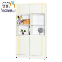 【文創集】麥可  環保3.1尺南亞塑鋼推門中空書櫃/收納櫃