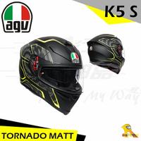 任我行騎士部品 AGV K5S TORNADO 消光黑黃 亞洲版 全罩 安全帽 玻璃纖維 內墨片 除霧片
