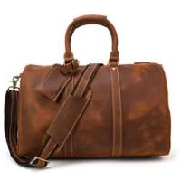 กระเป๋าเดินทาง VINTAGE กระเป๋าถือหนัง 18 นิ้วขนาดใหญ่ความจุกระเป๋าเดินทางกระเป๋ากระเป๋าไหล่เดี...