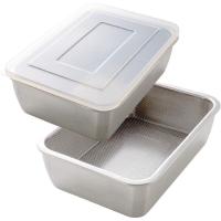 ♥微小市集♥【日本代購】Arnest 不鏽鋼濾網保鮮盒組/兩款/現貨+預購