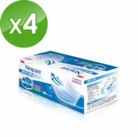 【3M】醫用口罩成人散裝50枚入x4盒-藍色