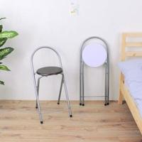 【E-Style】高腳折疊椅/吧台椅/摺疊椅-木製椅座(二色可選)