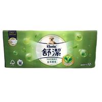 舒潔 清新綠茶拉拉抽取式衛生紙(110抽X12包/ 串) [大買家]