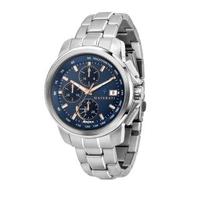 【MASERATI 瑪莎拉蒂】SUCCESSO 光動能三眼計時腕錶44mm(R8873645004)