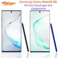 """Samsung Galaxy Note10 5G Note 10 N971U1 Mobile Phone Snapdragon 855 Octa Core 6.3"""" Triple Cameras 12GB&256GB NFC Cellphone"""