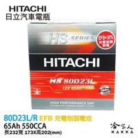 【HITACHI 日立】80D23L  RAV4 X-TRAIL 電池 免運 55D23L EFB 免加水電瓶 哈家人