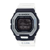 【CASIO 卡西歐】G-SHOCK G-LIDE系列經典設計衝浪者潮汐電子錶-白X黑(GBX-100-7)