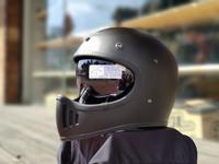 任我行騎士部品 Gallop M2 山車帽 內藏墨鏡 全罩 安全帽 #消光黑