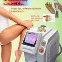 Công Suất Làm Lạnh 808 Diode Laser Máy Hair3 Bước Sóng Laser Diode Tóc 800W 755 808 1064 Laser