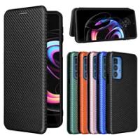 For Motorola Edge 20 Pro Case For Motorola Edge 20 Case Carbon Fiber Flip Leather Case For Motorola Moto Edge 20 Lite Case