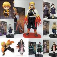 คนรัก Demon Slayer รูป Tanjirou ถือดาบ Shinobu Nezuko Zenitsu Kyoujurou Giyuu PVC Action Figure ของเล่นของขวัญเก็บ