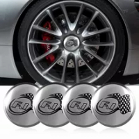 4PCS 56MM 3D F1ป้ายสัญลักษณ์ศูนย์ล้อรถHub Hubหมวกสติกเกอร์สำหรับMercedes Benz BMW TOYOTA Audi Volkswagen LEXUS Volvo Hyundai