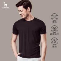 【Chamois】機能彈力速乾吸濕排汗素面T-shirt(黑)