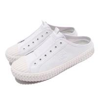 【SKECHERS】休閒鞋 Street Trax-Cul De 女鞋 帆布穆勒鞋 輕量 避震 緩衝 好穿脫 白(155386WHT)