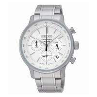 刷卡滿3千回饋5%點數|SEIKO CS儉約三眼計時腕錶/白面/SSB161P1(8T63-00A0S)