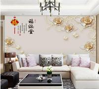 8d電視背景墻壁紙簡約現代5d墻紙客廳裝飾壁畫立體影視墻布米色3d 創意家居