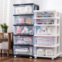 角落櫃 透明塑膠40cm抽屜式收納櫃兒童玩具儲物衣櫃角落櫃廚房分類整理箱『MY1463』