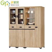 【綠家居】胡里斯 時尚5.3尺雙面高鞋櫃/玄關櫃組合