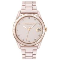 刷卡滿3千回饋5%點數 COACH 浪漫主義風陶瓷時尚腕錶/粉14503264