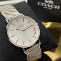 【COACH】COACH蔻馳女錶型號CH00010(銀白色錶面銀錶殼銀色精鋼錶帶款)