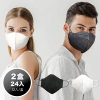 【康匠 匠心】M2.5 專業3D立體防霾口罩 3D成人口罩(12入/盒 2盒組/二色任選 台灣製造 3D口罩 卜公家族)