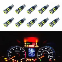 10Pcs T5หลอดไฟ Led W3W 37 73 74 Auto LED แผงหน้าปัดรถหลอดไฟ12V สีขาวสีฟ้าสีแดงสีเหลืองสีเขียวสีชมพู
