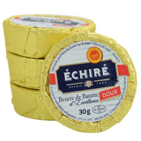現貨小版組合10顆!法國艾許有鹽無鹽發酵奶油(Échiré)30克/50克