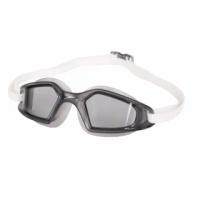 【SPEEDO】成人運動泳鏡-抗UV 防霧 蛙鏡 游泳 訓練 深灰白(SD812268D649)