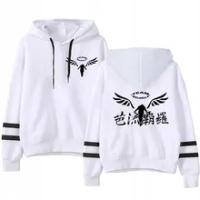 Anime Gambar Valhalla Tokyo Revengers Kawaii Hoodie Aesthetic Pocket Casual Loose Sweatshirts Anime Tokyo Revengers Tops Moletom
