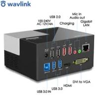 Wavlink USB 3.0 Universal Docking Station Dual Video DisplayLink Full HD 1080P DVI to VGA HDMIport For Laptop Docking Station