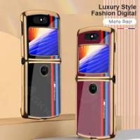 GKK Original For Motorola Moto Razr 5G Case Luxury Organic Glass Fold Painted Protection Case For Motorola Moto Razr 5G Cove