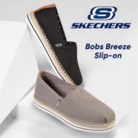 Costco好市多SKECHERS BOBS Breeze斯凱奇記憶鞋墊草編休閒平底厚底帆布包鞋