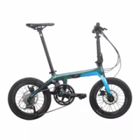Java X1 16 inch Bicycle Foldable Bicycle Carbon Fiber Frame Folding Bike 18 Speed Double Disc Brake