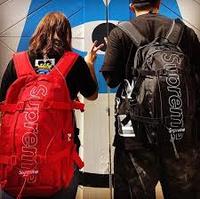 KUMO SHOES-Supreme 45Th Backpack 後背包 菱格 登山 24L 大容量 黑色/紅色