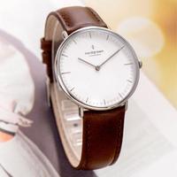 【Nordgreen】ND手錶 本真 Native 36mm 月光銀殼×白面 復古棕真皮錶帶(NR36SILEBRXX)