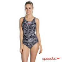 【SPEEDO】女人運動連身泳裝 Boom AL MB(黑-白)