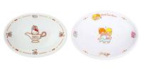 大賀屋 日貨 hello kitty 雙子星 咖哩盤 盤子 陶盤 陶瓷 大盤 大碟子 陶瓷碟 正版 L00011598